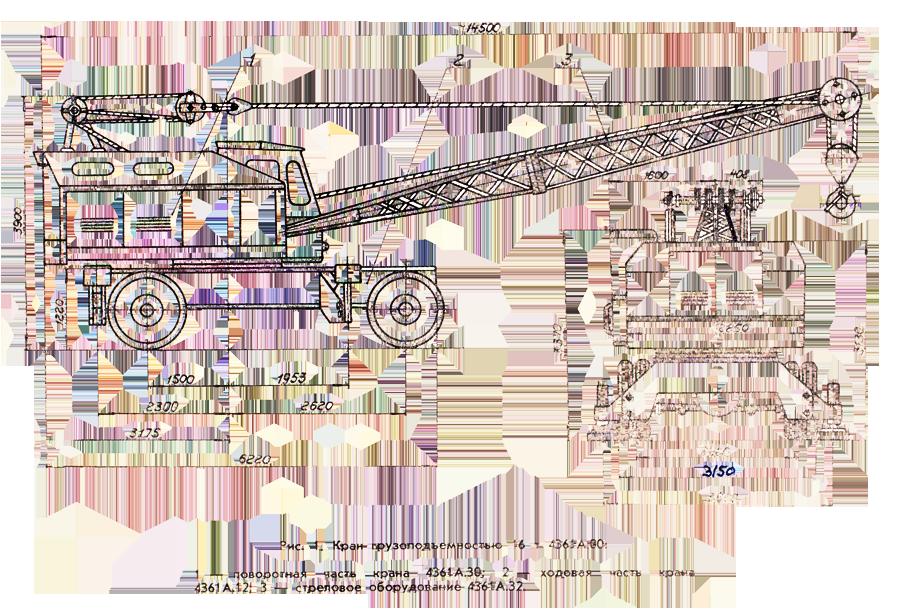 Габариты крана КС-4361А